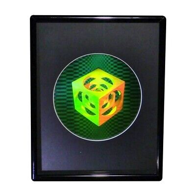 £25.20 • Buy 3D Cubes Within Cubes Hologram Picture FRAMED, Collectible EMBOSSED Type Film