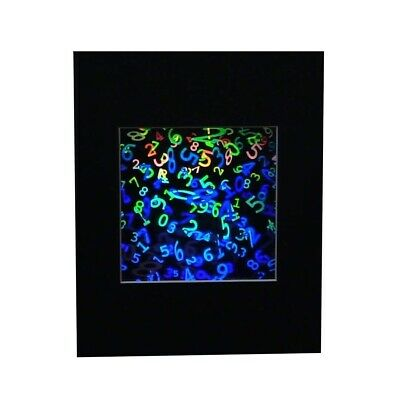 £36.02 • Buy 3D NUMBERS IN SPACE Hologram Picture MATTED, Collectible EMBOSSED Type Film