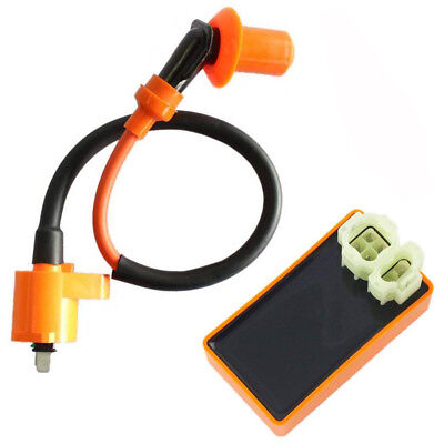 $10.39 • Buy Ignition Coil + Racing CDI Box For GY6 50-150cc Scooter ATV Moped Quad Dirt Bike