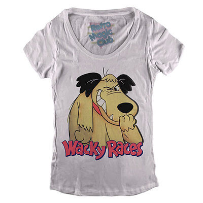 WACKY RACES Woman T-shirt Hanna Barbera Dick Dastardly & Muttley • 17.98£