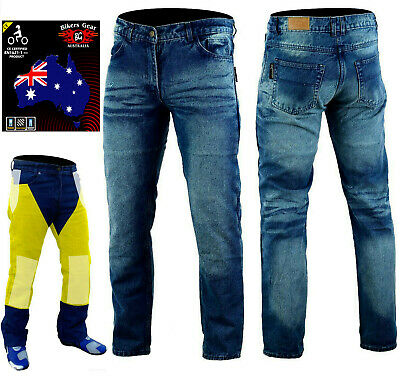 £50.15 • Buy Men Stone Wash CE Armoured Motorbike Motorcycle Trousers Jeans Line With KEVLAR®