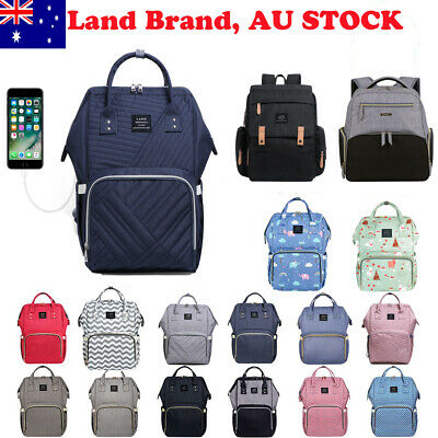 AU39.95 • Buy Multifunctional GENUINE LAND Large Baby Diaper Backpack Mummy Nappy Changing Bag