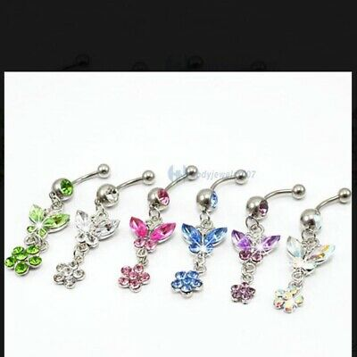 £2.69 • Buy Bowknot Style Belly Bars  Belly Button Surgical Steel Jewellery Uk.