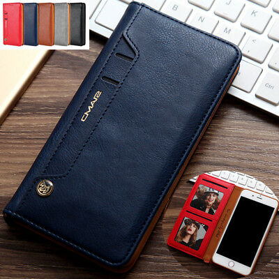 AU10.28 • Buy For IPhone 7 XS Max 12 Leather Wallet Card Photo Slot Case Magnetic Flip Cover