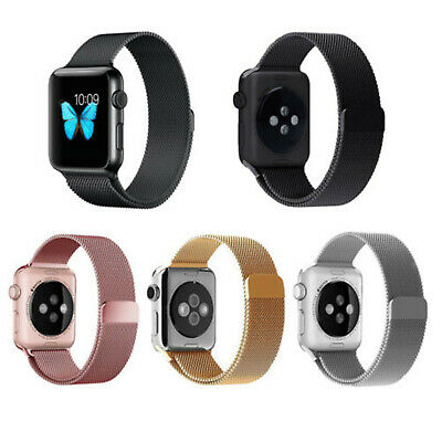 AU20.99 • Buy Milanese Loop Strap For Apple Watch All Series Iwatch Stainless Steel Wrist Band