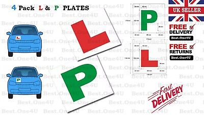 4 X Plates Learning (l & P ) Magnetic New Car Plates Exterior Secure And Safe • 4.99£