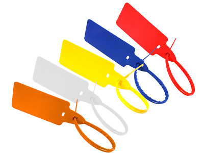 Uniflag Large Paddle Tag Security Seal Cable Tie Identification Colours & Packs • 6.86£