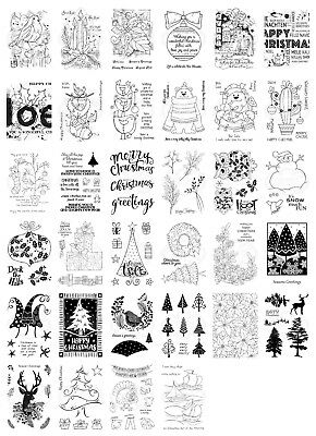 Woodware Clear Singles Stamps - Christmas 2018 - *NEW* - Choose - 150mm X 100mm • 5.99£