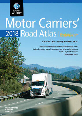 Motor Carriers 2018 Road Atlas USA Professionals Truckers Drivers Highway Guide • 12.94£