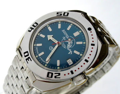 $ CDN90.77 • Buy Vostok Amphibian Watch 710059 Scuba Dude Diver Military Russian Automatic Blue
