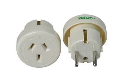 AU16.49 • Buy Korjo Travel Adaptor For Europe From Australia New Zealand - Fast Shipping