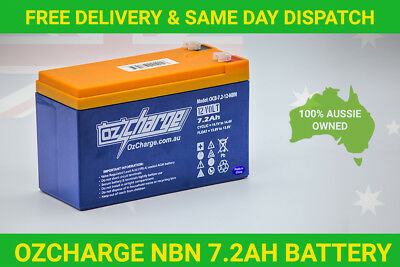 AU39.95 • Buy OzCharge NBN Battery VRLA SLA 12V 7AH 7.2AH For NBN Power Supply Backup Battery