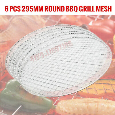 AU18.95 • Buy 6x Round Bbq Grill Mesh Meat Fish Cook Net Mat For Outdoor Camping Picnic 29.5cm