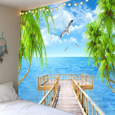 £9.42 • Buy   Tapestry Decorative Mural Indoor/Outdoor Wall Decor Seascape A