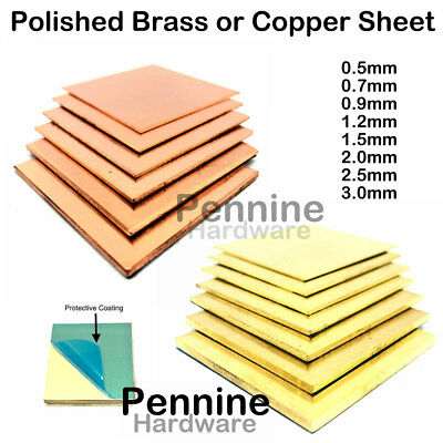 £4.35 • Buy BRASS OR COPPER SHEET 0.55 To 3.0 Mm Guillotine Cut Metal From UK Trade Supplier