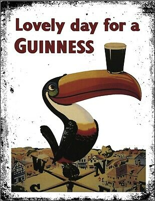 £3.99 • Buy Guinness IRE Retro Beer Stout Pub Shed Bar Man Cave Metal Aluminium Vintage SIGN