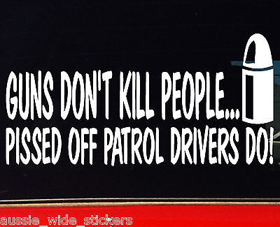AU6.90 • Buy PATROL Stickers Gu Gq 4x4 Ute Funny Decals GUNS 200mm