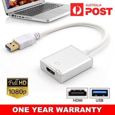 AU15.95 • Buy USB 3.0 To HDMI Cable Converter Display Graphic Adapter For Laptop PC HD 1080P