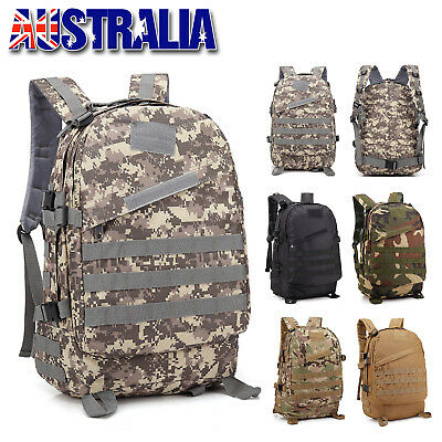 AU20.95 • Buy 35L Outdoor Hiking Camping Bag Army Military Camo Rucksack Backpack Trekking