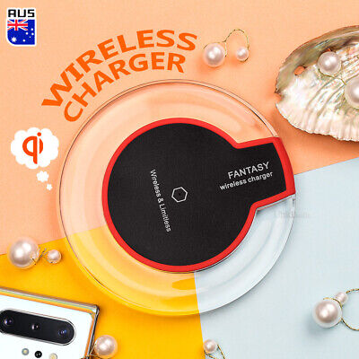 AU6.99 • Buy For IPhone XS XR 11 Pro Max Samsung S10 S9 S20 Ultra QI Wireless Charger Pad