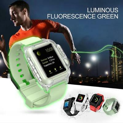 $21.84 • Buy Waterproof Sport Silicone Strap Case Cover Watchbands For Apple Watch Series 3 2