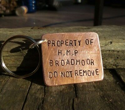 Copper Hmp Broadmoor Prison Keyring H.m.p Boyfriend Christmas Gifts For Him Jail • 12.99£