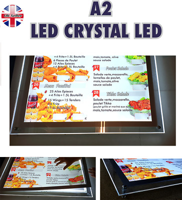 A2 Led Crystal Frame Light Box For Advertising Or Takeaway Menu Display • 145£