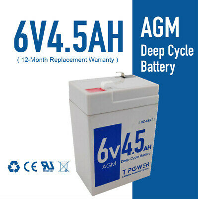 AU17.95 • Buy Brand New 6V 4.5AH UPS SLA Battery 6 Volt High Rate > 4AH Toy Electric Bike