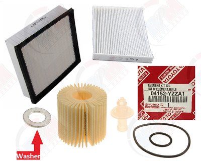 $28.95 • Buy GENUINE Oil Filter 04152-YZZA1 + Air & Cabin Filter For Toyota & Lexus