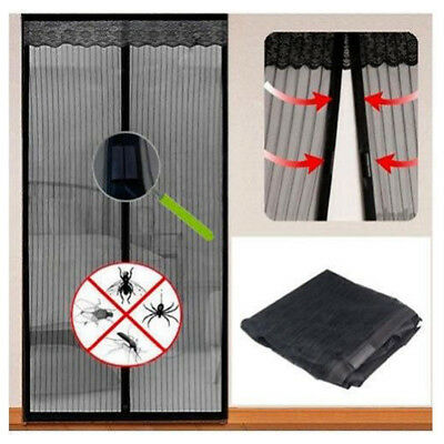 £6.99 • Buy Magnetic Mesh Door Magic Protection Curtain Snap Fly Bug Insect Mosquito Screen
