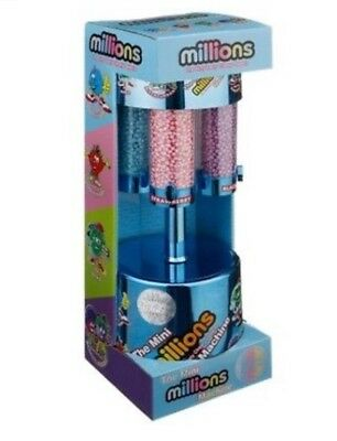 Mini Millions Sweet Dispenser Machine Toy Christmas Sweets Gift Set - Blue • 23.99£