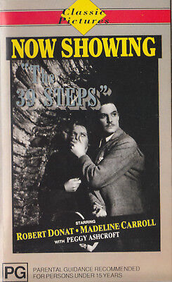 $ CDN8.49 • Buy THE 39 STEPS Robert Donat / Madeline Carroll Video VHS Pal    SirH70