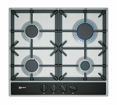 £229 • Buy Neff T26DA49N0 58cm 4 Burner Gas Hob In Stainless Steel With Cast Iron Supports