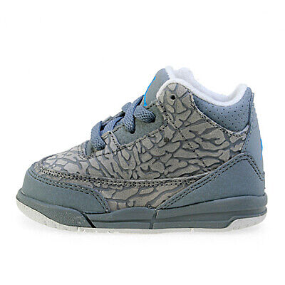 new product 86a13 e6d22 Nike Toddler s Air Jordan 3 Retro (TD) Shoes NEW AUTHENTIC Cool Grey 832033-