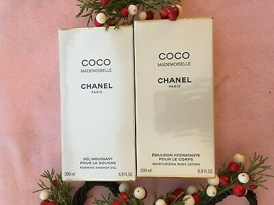 Chanel Coco Mademoiselle Shower Gel And Body Lotion + Gifts Set Sale • 109$