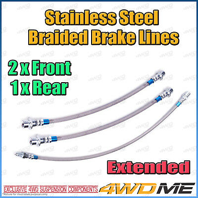 AU110 • Buy Fits TOYOTA HILUX KUN26 N70 EXTENDED Stainless Steel Braided Brake Lines W/o ABS