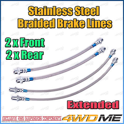 AU140 • Buy TOYOTA HILUX KUN26 N70 4WD EXTENDED Stainless Steel Braided Brake Lines With ABS