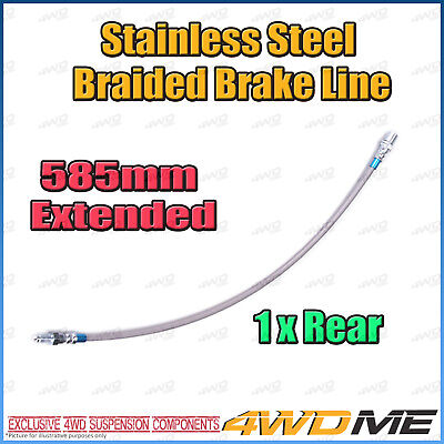 AU45 • Buy 1 X TOYOTA HILUX KUN26 N70 4WD EXTENDED REAR Stainless Braided Brake Line NO ABS