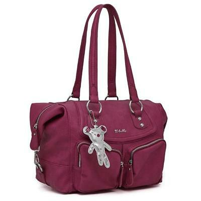 Il Tutto Lola Baby Changing Nappy Bag - Raspberry • 49£