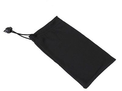 Soft Microfibre Sunglasses Case Bag, Glasses Pouch & Cleaning Cloth. Black (Lot) • 1.69£