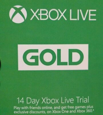 $4.99 • Buy Xbox Live Gold 14 Day (2 Weeks) Trial
