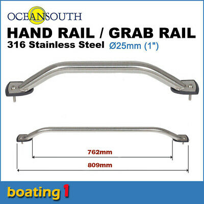 AU41.95 • Buy 316 STAINLESS STEEL 762mm SS MARINE HAND/GRAB RAIL - Boat/Yacht Handrail 25 Dia