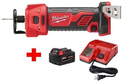 £222.06 • Buy Milwaukee Drywall Cut Out Tool Cordless M18 Starter Kit One Battery And Charger
