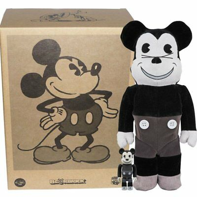 $349.99 • Buy Bearbrick - Mickey Mouse - B&W Vintage Version - 100% And 400%