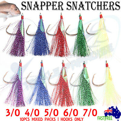 AU9.95 • Buy Snapper Flasher Rigs Snatcher Circle Hooks Rig Fishing Flashers Lure Paternoster
