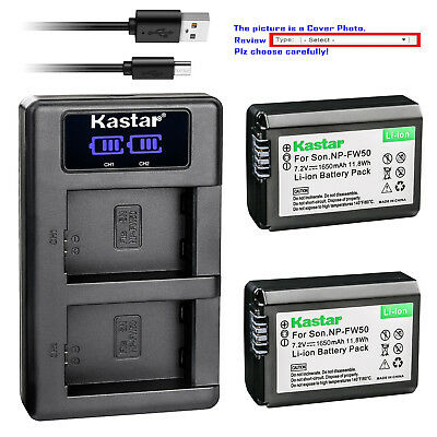 $ CDN13.83 • Buy Kastar LCD Dual Charger Battery For Sony NP-FW50 BC-VW1 & ILCE-6500 Alpha A6500