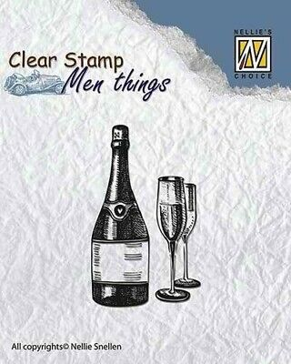 Nellie Snellen Clear Stamps Men Things - Wine CSMT003 • 3.80£