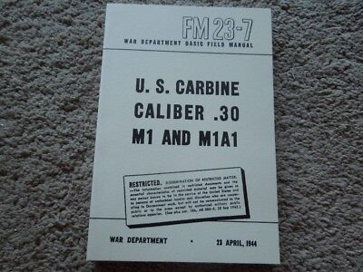 $14.95 • Buy 1944 Dated WW2 .30 Cal.  M1 Carbine And M1A1 Carbine Rifle Field Book 209 Pages