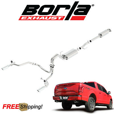 $1153.99 • Buy BORLA S-Type Cat-Back Performance Dual Exhaust 15-19 Ford F150 5.0L V8 Coyote