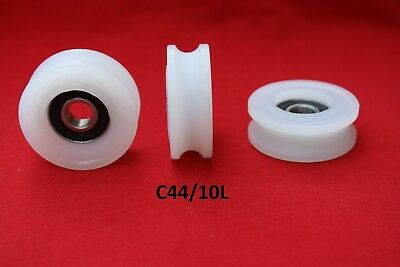 £9 • Buy 44MM Round U Groove Nylon Pulley With Ball Bearing  Wheels Roller For Rope